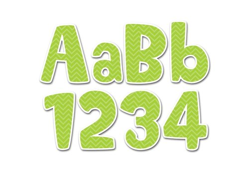 "Creative Teaching Press Lime Green Chevron 4"" Designer Letters"