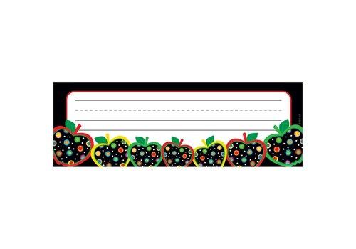 Creative Teaching Press Dots on Black Apples Name Plates