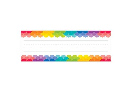 Creative Teaching Press Rainbow Scallops Name Plates