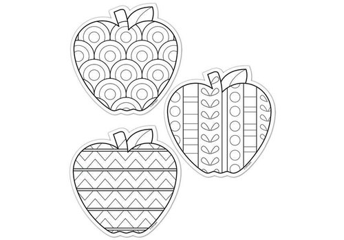 "Creative Teaching Press Color-Me Apples 6"" Designer Cut-Outs"