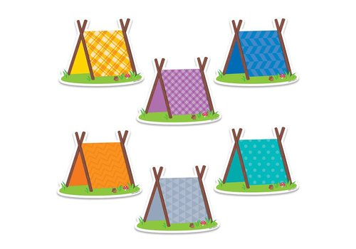 "Creative Teaching Press Woodland Friends Pup Tents 6"" Designer Cut-Outs *"