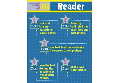 Creative Teaching Press 5-Star Reader Common Core Chart, Gr. 3-5*