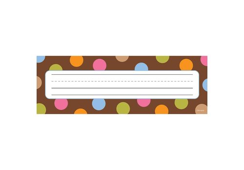 Creative Teaching Press Dots on Chocolate Name Plates