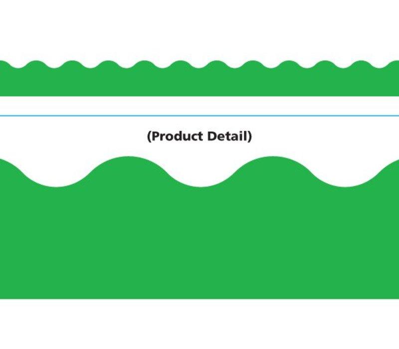 Green Scalloped Border