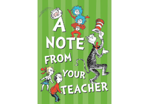 EUREKA Cat in the Hat - A Note From Your Teacher Cards