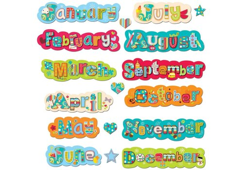 Creative Teaching Press Dots on Turquoise Months of the Year