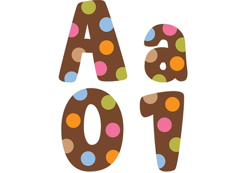 """Creative Teaching Press Dots on Chocolate 4"""" Designer Letters"""