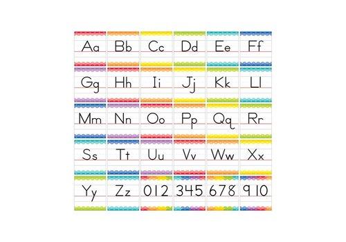Creative Teaching Press Painted Palette Traditional Manuscript Alphabet Bulletin Board