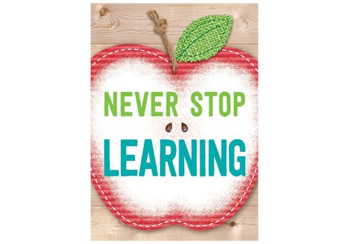 Creative Teaching Press Never Stop Learning. Inspire U Poster