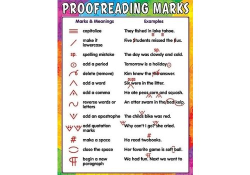 Creative Teaching Press Proofreading Marks Poster*