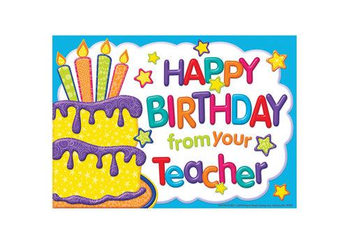 EUREKA Color My World Birthday Teacher Postcards