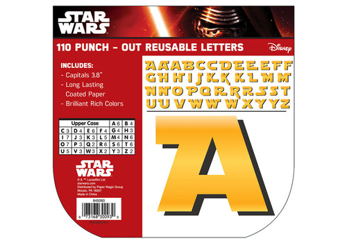 EUREKA Star Wars Punch Out Letters, 110