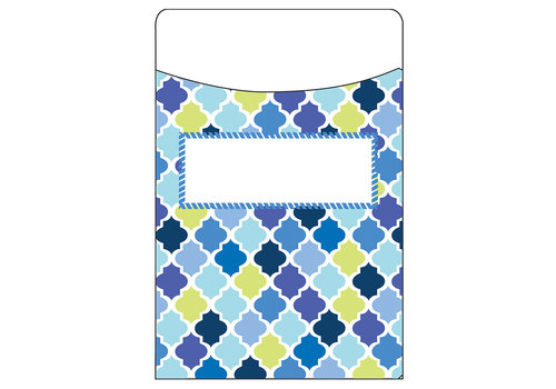 EUREKA Blue Harmony Library Pockets- Diamonds