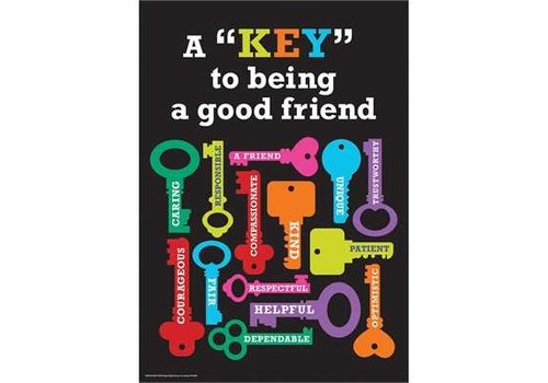 EUREKA KEY to being a good friend poster