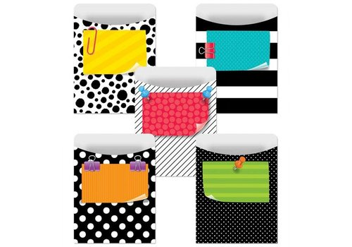 Creative Teaching Press Bold & Bright Library Pockets - Standard