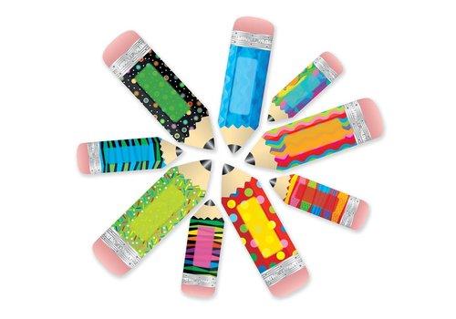 "Creative Teaching Press Poppin' Patterns Pencils 6"" Designer Cut-Outs"