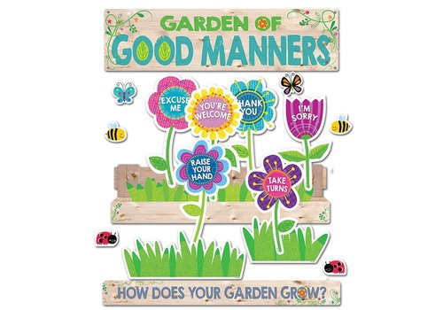 Creative Teaching Press Garden of Good Manners Mini Bulletin Board