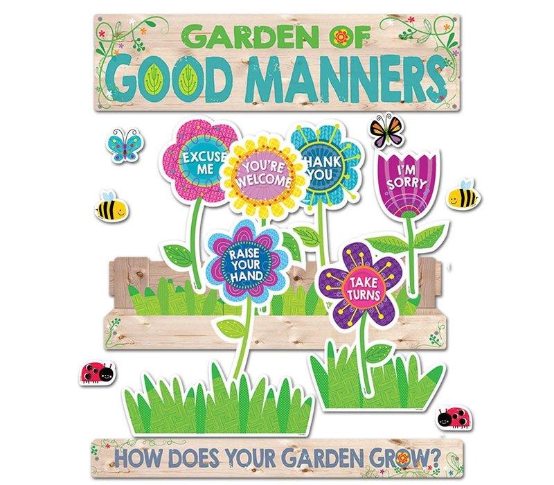 Garden of Good Manners Mini Bulletin Board