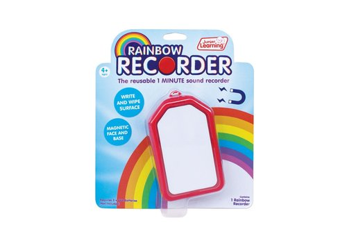 JUNIOR LEARNING Rainbow Recorder - 1-minute sound recorder