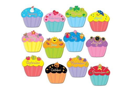 "Creative Teaching Press Cupcakes 6"" Designer Cut-Outs"