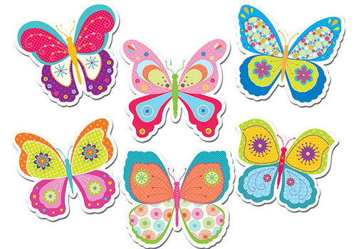 "Creative Teaching Press Butterflies 6"" Designer Cut-Outs *"