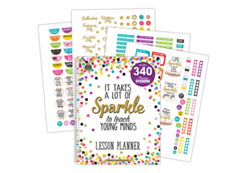 Teacher Created Resources Confetti Lesson Planner with Stickers