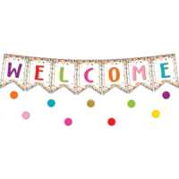 Confetti Pennants Welcome Banner