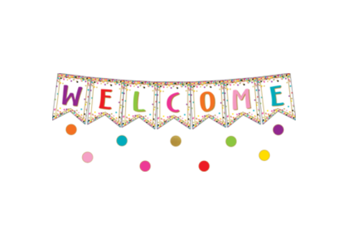 Teacher Created Resources Confetti Pennants Welcome Banner