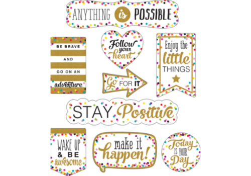 Teacher Created Resources Clingy Thingies - Confetti Positive Sayings