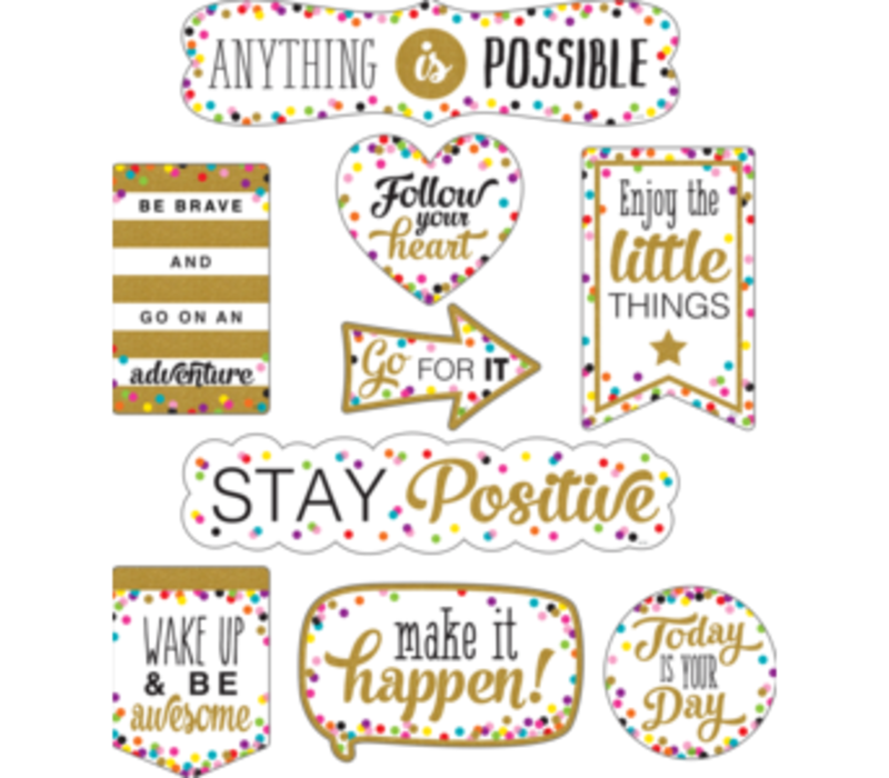 Clingy Thingies - Confetti Positive Sayings *