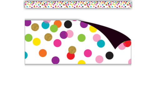 Teacher Created Resources Confetti Straight Magnetic Border