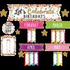 Teacher Created Resources Confetti Let's Celebrate Birthdays - Mini Bulletin Board Set *