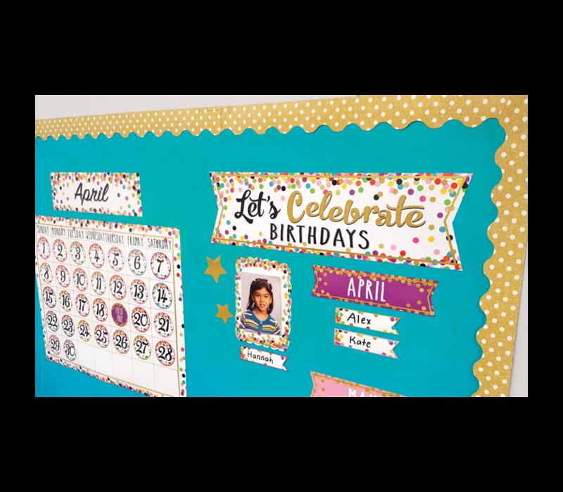 Confetti Let's Celebrate Birthdays - Mini Bulletin Board Set *