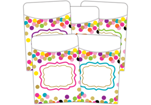 Teacher Created Resources Confetti Library Pockets
