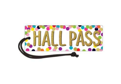 Teacher Created Resources Confett Magnetic Hall Pass