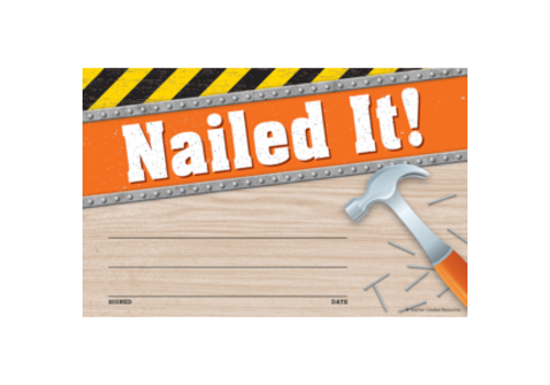 Teacher Created Resources Under Construction -Nailed It! Awards *