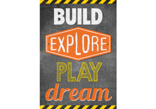 Teacher Created Resources Build, Explore, Play, Dream Poster*