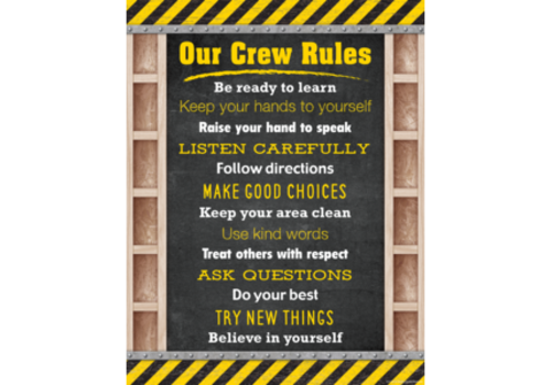 Teacher Created Resources Under Construction Our Crew Rules Poster*