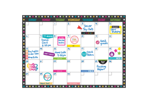 Teacher Created Resources Clingy Thingies - Chalkboard Brights Calendar Set *