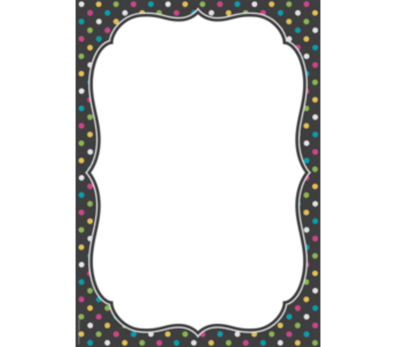 Clingy Thingies - Chalkboard Brights Large Note Sheet