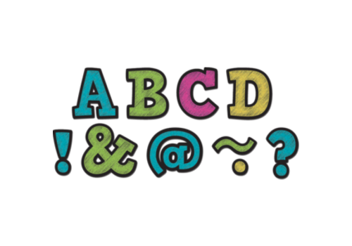 "Teacher Created Resources Chalkboard Brights Magnetic 2"" Letters"