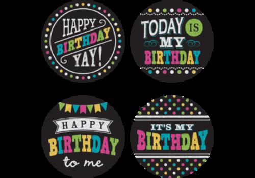 Teacher Created Resources Birthday Chalkboard Bright  Wear 'Em Badges