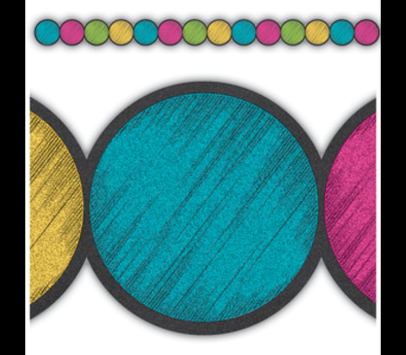 Chalkboard Brights Circles Border Trim*