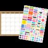 Teacher Created Resources Clingy Thingies - Burlap Calendar Set