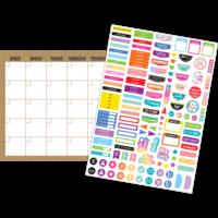Clingy Thingies - Burlap Calendar Set