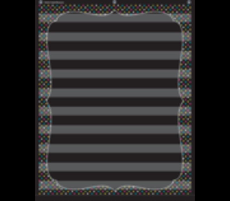 """Chalkboard Brights 10 Pocket  Chart (34"""" x 44"""")"""
