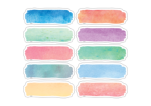 Teacher Created Resources Watercolor Labels Magnetic Accents