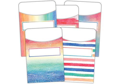 Teacher Created Resources Watercolor Library Pockets