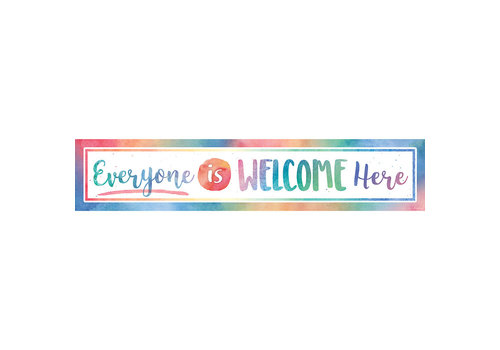 Teacher Created Resources Everyone is Welcome Here - Watercolor Banner