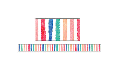 Teacher Created Resources Watercolor Stripes Straight Border *